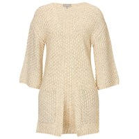 Betty And Co. Chunky Knit Cardigan Bright Cream Melange