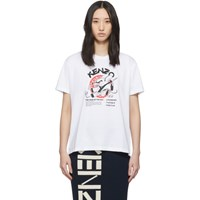 Kenzo White Limited Edition Chinese New Year Kung Fu Rat T Shirt