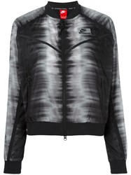 Nike International Zig Zag Bomber Jacket Black