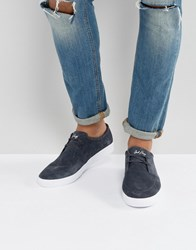 Fred Perry Shields Suede Trainers In Charcoal Charcoal Grey