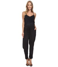 Lucky Brand Embroidered Jumpsuit Jet Black Women's Jumpsuit And Rompers One Piece