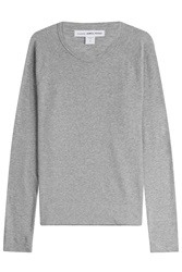 James Perse Long Sleeved Cotton Top Grey