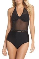 Ted Baker 'S London Underwire One Piece Swimsuit Black