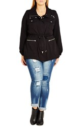 City Chic Plus Size Women's Lightweight Drawstring Waist Utility Jacket
