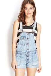 Forever 21 Buttoned Overall Shorts