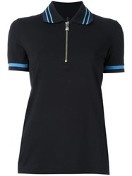 Versus Zip Collar Polo Shirt Black