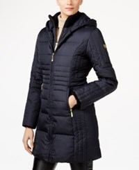 Vince Camuto Hooded Down Coat Navy