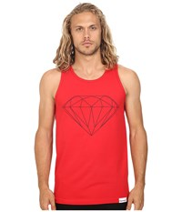 Diamond Supply Co. Brilliant Tank Top Red Men's Sleeveless