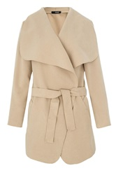 Quiz Felt Waterfall Belt Jacket Beige