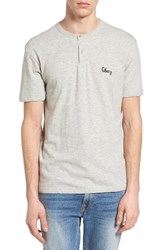Obey Men's Assignment Henley Heather Grey