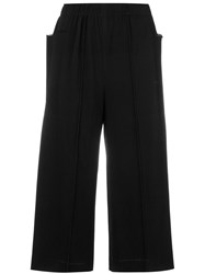 Issey Miyake Cauliflower Cropped Pants Women Polyester One Size Black