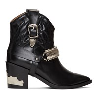 Toga Pulla Black Western Detail Boots