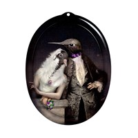Ibride Galerie De Portraits Oval Tray The Lovebirds