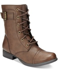 American Rag Faylln Combat Booties Only At Macy's Women's Shoes Brown