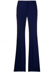 Alexander Mcqueen Flared Tailored Trousers Blue