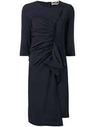 Hache Gathered Front Dress Blue