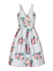 Chi Chi London Digital Floral Print Midi Dress Lilac