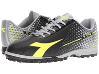 Diadora 7 Tri Tf Black Yellow Fluo Silver Soccer Shoes