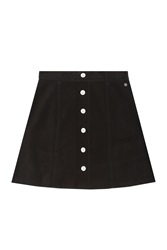 Alexa Chung For Ag Kety Corduroy Skirt Blue