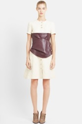 J.W.Anderson Leather Corset Fit And Flare Hemp Shirtdress Red
