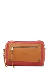 Timberland Leather And Canvas Travel Kit Red