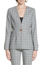 Ted Baker London Working Title Rista Check Blazer Grey