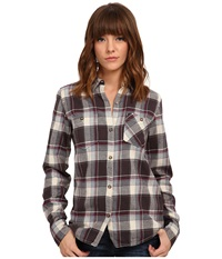 Burton Grace L S Woven Smokey Black Impulse Plaid Women's Long Sleeve Button Up