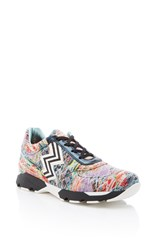 Missoni Printed Sneakers White Black Orange