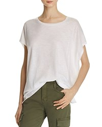 Vince Stacked Hem Boyfriend Tee White