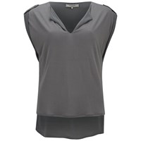 Great Plains Women's Turn Back Top Pale Mink Grey