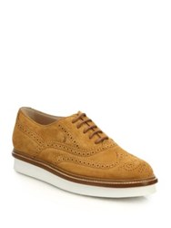 Tod's Suede Wingtip Derby Oxford Shoes