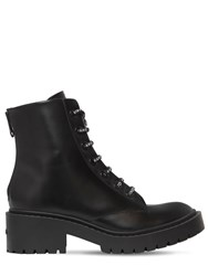 Kenzo 50Mm Pike Lace Up Leather Combat Boots Black