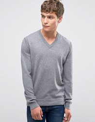 Boss Orange Albino Vneck Jumper Merino Blend Grey