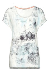 Sandwich Abstract Print T Shirt Jade