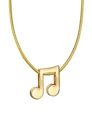 Alex Woo 14K Yellow Gold Music Note Necklace