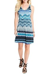 Karen Kane Women's Brigitte Batik Stripe Tank Dress