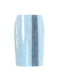 Bottega Veneta Mesh And Bleach Detail Cotton Skirt