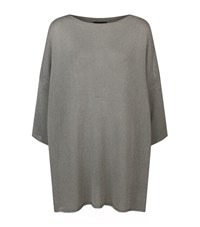 Eskandar Knitted Batwing Top Female Grey