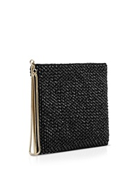 Reiss Clutch Cindy Embellished Zip Black