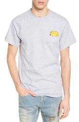 The Rail Men's Embroidered T Shirt Grey Heather Taco