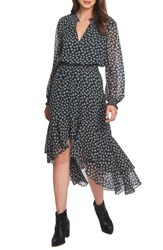 1.State High Low Floral Dress Pine