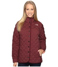 The North Face Thermoball Fur Hoodie Deep Garnet Red Women's Coat Brown