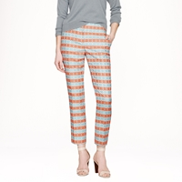 J.Crew Collection Cropped Pant In Diamond Stripe Jacquard