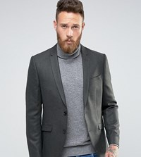 Heart And Dagger Skinny Blazer In Tweed Green