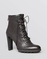 Stuart Weitzman Booties Nutyra Lace Up High Heel