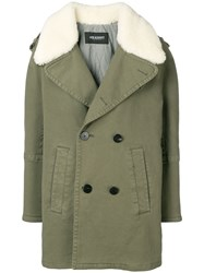 Neil Barrett Double Breasted Fitted Coat Green