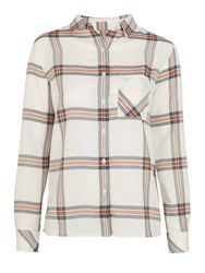 Barbour Brae Check Shirt Orange Check
