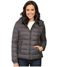 Save The Duck Basic Nylon With Hood Charcoal Grey Women's Coat Gray