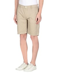 Duck And Cover Trousers Bermuda Shorts Men Beige