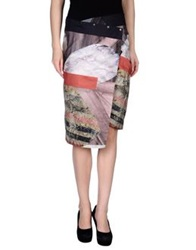Gentryportofino Knee Length Skirts Dove Grey